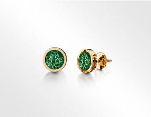 Earrings Gold-Green